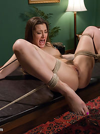 Private Meetings The Submission of Dani Daniels : The stunningly beautiful and sexually explosive Dani Daniels does her roughest and most hardcore sex and bondage scene for Sex and Submission! In this fantasy role-play, Dani Daniels discovers that her new boss is ex-boyfriend James Deen. After a messy breakup, she now finds herself at the mercy of his sadistic authority. Dani reluctantly agrees to play by his rules only to be subject to complete sexual domination in the privacy of his office. The initially defiant Dani Daniels gets broken down to a whimpering submissive slut! She endures the most intense multiple orgasms and gets pounded hard while in bondage. A must see!