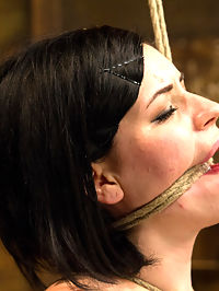 Pale Big Breasted Brunette Beauty Gets Anal Cherry Taken : Hot off the press and bondage newbie Belle Noir gets it. First, she is bound on her knees in a nice spread. Claire makes quick work of her mouth hole, challenging the new girl to take cock in her mouth. Belle is then urged to stand on wood balance bases. Add a crotch rope and the discomfort escalates. A vibrator is added and Belle is so horny she cums through the crotch rope.Second, Belle is bound on the horse. She has never had anything in her ass on camera before and we take her cherry. Her ass easily swallows the fingers inside. Her ass is spanked hard to a nice cherry red, and the amount of orgasms coaxed out of her holes is astounding.Finally, back on her knees, Belle is bound nice and tight to the horse. Her mouth receives a painful rope gag. Her nipples intense suction. The pleasure... we want to see this newbie cunt cum again and again.
