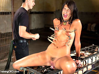The Training of Cassandra Nix, Day Four : Slave trainee Nix is fondled, fucked, assessed and tested - does she graduate?