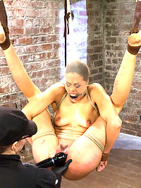 Lyla Storm - Complete Edited Live Show : Lyla cums back for more in her intense no holds live show.She first starts bound in a strappado ball. Claire goes after her with uncomfortable caning games followed by a full suspension. When Lyla is in the air, she is routinely refused orgasms when brought to the edge and taken for walks with her nipple clamps in a very painful fashion.Second, Lyla is bound over the wood arch in an open spread eagle back bend. Lyla wears the biggest spider gag in our arsenal and endures cruel twine bondage on her nipples, breast bondage, and relentless orgasms from a dick on a stick with a vibrator attached, tied to her cunt.Finally, its our princesss birthday. Lyla is bound in an extreme forward bend position and made to sing happy birthday to herself while Claire rips a zipper off her tender labia. Happy Birthday indeed!