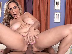 Ass-fucked, big-titted 43-year-olds are a mans best friend : Im so horny today. I just want to squeeze these big tits, 43-year-old Sophia Jewels says. Are you going to play with my pussy? Its pink and wet for you. And after that, can you fuck me up the ass?br br Was that a rhetorical question? Does Sophia actually expect anyone to say no to that?br br Before he fucks her ass, her stud feasts on her tits, and Sophia joins in the feast, licking the one that he isnt devouring. Meanwhile, shes saying, I cant wait for you to fuck me in the ass!br br Then he fingers Sophias tight asshole, and we can almost feel it gripping his finger. Then she sucks his dick. Then she lowers her pussy onto his cock. And, then comes the ass-fucking, followed by cum all over Sophias face. She sucks the cum off the cock thats just been in her ass, too.br br This might sound trite, but Sophia is a real jewel. An ass-fucked jewel.