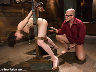 FOREIGN EXCHANGE SLAVE! French Student Suffers in Sexual Punishment! : Sexy French girl Nikita Bellucci does an amazing scene with great believable role-play, punishing throat fucking, pounding sex in bondage and deep anal penetration! As a foreign exchange student, Nikita thinks she lives at the perfect boarding home but quickly learns that she has become a sexual prisoner and fuck toy for a cruel and sadistic house master. Mark Davis is in top form as he dominates and relentlessly fucks all of Nikitas holes!