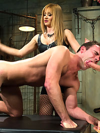 Small Penis Humiliation Cuckold : Mistress Lea Lexis arrives on set and mid pre interview requests to see Cameron Kincades cock before we even start shooting. Apparently she wont shoot with a man that has anything less than 7 inches. Unfortunately she doesnt tell me this until we are already half way through the interview. To say the least, Mistress Lea was extremely disappointed. I cant blame her, Cameron has such a small pathetic little worm that it is probably the smallest we have ever witnessed on Divine Bitches. A shoot that was supposed to be a dungeon scene quickly turns into me scrambling around on break trying to find a bull so I can save the shoot, satisfy Lea and turn it into a cuckolding! Poor Camerons big day where he thought he was going to get to fuck Lea turns into cuckold horror! Hes whipped, spanked, put in chastity, humiliated made to suck Mistress Leas bulls cock. CBT and made to watch and lick up the sex she has with her bull and takes a load of cum in his face at the hand of his now satisfied Mistress!