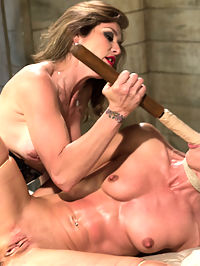Wenona Suffers : Welcome back hard body Wenona to Whipped Ass! We pair Wenona with tough domme, Felony and the chemistry is intense. Wenona is a tough sub who loves sex with other women! Felony makes Wenona earn each orgasm by pleasing her by taking pain. Wenona suffers beautifully with hard flogging, castration bands on the nipples, suspension bondage, dildo gag, hard spanking, rubber bands, caning, taking Felony covering her in squirt and strap-on doggie anal! This is a connection you dont want to miss!
