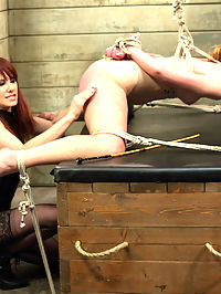 Dirty Confessions Live Lesbian BDSM : This weeks update is the edited version of the live show from last week with the cute and tough Claire Robbins being dominated by resident domme, Maitresse Madeline. Claire is curious about lesbian BDSM and is eager to push her limits. Maitresse uses her wicked verbal skills to get Claire to confess her darkest kinkiest secrets then punishes her for being so filthy! Claire takes a whipping while riding the sybian, a heavy spanking, a single tail whip, clover clamps, breath play, foot worship and made to lick Madelines ass. Her pussy explodes over and over until shes dripping all over the place and finally she is rewarded with her favorite, a deep strap-on anal fucking!