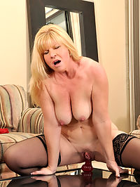 Anilos.com Dawnjilling - Sex craving busty milf fucks a long dildo on a mirror : Sex craving busty milf fucks a long dildo on a mirror