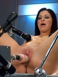 Gold Strike Hot New Brunette Co-ed FUCKED by Machines : Mia Gold is a bullseye of orgasm hotness. The machines rip soaking wet, squirting orgasms from her amazingly tight pussy. Her ass is the most lush fuckable, lickable place on earth that is stretched out wide by a girthy cock on the Fucksall. Oh, and she squirts into her own face too. Machines, anal fucking, tit suckers, goat milkers, squirting orgasms and one sexy babe who is certain to be a rising porn star very soon.