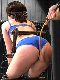 Proxy Paige vs Orlando : Scene 1Proxy is bound standing bent in a stripper like pose, tits out - ass out. Orlando takes advantage of her round booty and canes her ass. Nipple clamps stretched out and tied. Inflatable anal dildo. Made to orgasm. He primes her up, ripening the cunt for her next predicament.Scene 2Bitch is bound uncomfortably on a box and blindfolded. Hot wax is painfully administered to her body. Tweezers-style clamps are added to her nipples, and one extremely painful clamp added to her clit. Tormented with poky sticks, her ass and pussy are rammed at the same time with thick dildos.Scene 3Straddle splayed on the floor, the whore is on display for the taking. Her head is held down and her mouth, affixed to a pipe. She has little to no wiggle room and is completely helpless while Orlando violates this bitches holes.