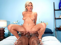 A big, black cock for Payton Hall : Round 3 for 51-year-old Payton Hall. The first time, Payton got her mouth but not her pussy fucked. The second time, Payton took on two young studs. And now, its a big, black cock for this divorcee and realtor from Arizona.br br I love black men, Payton said. I love big, black cocks.br br In this scene, Payton talks dirty and gets her face fucked and then her pussy fucked. She enjoys a gooey facial. Some of the cum drips down to her floppy tits, which we know a lot of you guys love.br br Im pretty much living out all of my sexual fantasies, Payton said. Having sex on-camera was definitely one of them. But as for things I havent done, Id love to go to Hedonism in Jamaica and travel more. Id love to totally trust and give my whole self to one person and experience totally unbridled passion. Fucking is great, but sex where you really care about the person is the best.br br Payton is a swinger, and she has done a lot of things in her sexual life. Shes had threesomes with men and women. Shes been in gangbangs. Shes had a bunch of men cum all over her pretty face and tits. But until she walked into our studio, shed never had sex with porn studs. Now shes done it three times.br br Best time of my life! she said. If I had it to do all over, Id become a porn star.br br As the women of 40SomethingMag.com keep proving, its never too late.