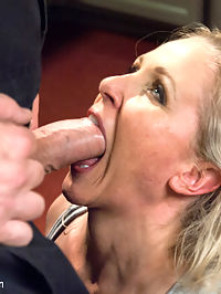 Julia Anns Submissive Fantasy : Julia Ann is a smoking hot MILF with huge tits and as horny as they come. This beautiful woman lives out a BDSM fantasy with the skillful and sadistic Mark Davis. As a married woman, she cannot control her desires for a stranger with aggressive sexual tendencies and finds herself living a double life.