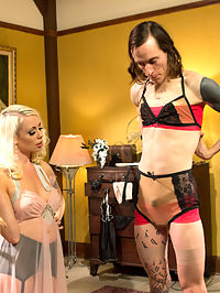 Just One Of the Girls A sissy slut is born : This week I give you another installment of our feminization series! This controversial subject is one of our favorites to shoot and most popular fetishes we explore on Divine Bitches! This time Mistress Lorelei Lee executes beautifully her form of sissificationfeminization bringing out that side of Owen Grey making him into a slutty girl for all the Divine Bitches to use at their future slumber party! He will be used as a sex toy and made to be pretty just for all the girls amusement. Lorelei transforms him with a strict hand and then uses his sissy pussy deep until Cherry Owen squirts his sissy juice all over like a dirty little slut!