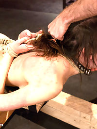 Fresh Meat Slave Slut : Luna Kitsuen reenacts a fantasy of complete submission as she becomes the sole property of a ruthless buyer of sex slaves, James Deen. First he thoroughly examines her fresh and tender body. Then he puts his new slave through her paces with corporal punishment and discipline. Satisfied with her true eagerness to please, he then unleashes a fierce face fucking and ass and pussy pounding while Luna is helplessly bound!