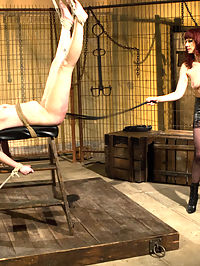 Submission Of Sasha Knox : Sasha Knox returns to Kink.com hotter than ever! Sasha, s true submissive who enjoys pushing her limits and submitting to women desperately wants to please Maitresse Madeline as Madeline dishes out her relentless form of domination! Draped in chains shes spanked and flogged so hard she has uncontrollable orgasms just from being hit! Shes made to worship Madelines leather boots and feet while having her nipples tortured and cumming all at the same time. Shes bound in tough bondage and cato nine whipped while having four fingers stuffed in her cunt then pushed face down on the ground and strap-on ass fucked deep like a filthy whore on the dirty floor!