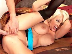 Ass-Fucking A Busty Legend : SV SC Joanna Storm 25403 Ass-Fucking A Busty Legendbr br If you watched porn movies in the great 80s, youve seen Joanna Storm sucking and fucking the legends of stud-dom in a couple of hundred movies. She was one of the best looking and hottest fuck-babes in adult films, starting in 1982 when she was 24 years-old. Hot for sex, she would fuck during breaks from on-camera fucking. It would take a book to document her larger-than-life career and sexual experiences.br br She retired at the end of the 80s, married, had three daughters and divorced. A very sexual woman, the urge to try porn again returned. Joana made a brief cumback a couple of years ago, after getting big boobs and a few tattoos. She came to iSCOREi where she did her first fuck scene in over 20 years. Oddly enough, Joanna says this was her first anal scene and we say oddly because most porn stars who perform that long have done anal at least once in a video.br br Joanna used an anal training kit to prepare her anus for cock and discovered that she loves getting fucked in her ass. In a video interview with the editor of i50PlusMilfsi magazine, she filled her ass with butt plugs on-camera and that was almost as hot as a scene with a flesh and blood cock. Some might even think it hotter.br br Joanna has great cock and ball sucking skills, something you would expect from someone with her credentials. The guy Joey Hogger who has the honor of screwing her asshole knew he was fucking porn royalty. She looks much younger than her age 51 and her fucking skills havent diminished with time. Dirty talking and cum play have not been forgotten and her hips and legs are very flexible. br br Joanna Storm is a legend and now shes a busty legend.br