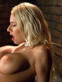 Riled up Blonde Hottie Machine Plowed Till her Fake Tits Jiggle : Riley Evans is not sure she wants a machine fucking. She doesnt know it yet, but shes really going to like us by the end of her 10th orgasm. We start out slow with The ShockSpot and a little self-choking that Riley can do or not do if she starts to feel a little overwhelmed. This is the last time we will be nice, however. We are not in the business of nice orgasms - we are in the business of epic orgasms. By the end her five machine fuck fest, all Riley can do is giggle. Epic orgasms, achieved.
