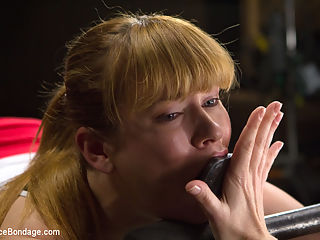 Conflicted - Claire Robbins : Hot newbie Claire Robbins gets taken over and Dominated by Mz Berlin. Repeatedly she is brought back to the same theme - confliction. In every cruel and unforgiving bondage predicament, torments are dishes out that break this ginger bitch and in every situation she is fed orgasms to survive. Anal plugs, metal anal hooks, caning, tazapper, sybian, nipple stretcher, clothespins, hot wax... Mz Berlin pulls from the arsenal to torment Claire Robbins, priming her ripe for each and every orgasm.