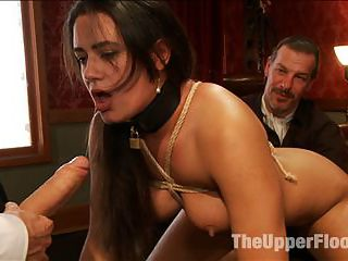 Smart Ass Anal Slave Girl Gets an Attitude Adjustment : When smart ass slave girl Penny Barber arrives with wisecracks and disrespect, the trainers hold her down and fuck her tight little asshole till she learns that Discipline, Duty and Dick rule the Upper Floor.