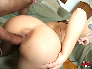 Sarah gets big blonde ass and titties fucked