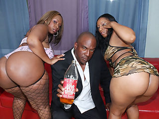 Nasty hoes get 40 ounce bounced on their big asses!