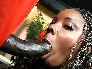 Big black ass bounces on cock