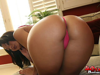 Busty Latina Sandra shows off her big round ass