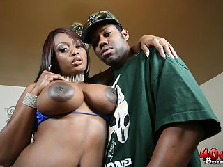 Jada Fire gets her big black ass 40 oz bounced