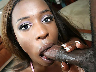 Curvey black girl bounces her huge ass on a big cock