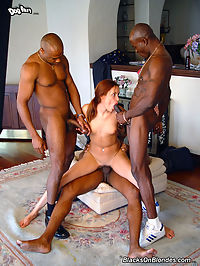 Teen in interracial gangbang assfucked