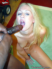 Blonde Brit interracial gangbang, anal, DP
