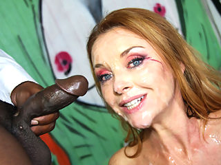 Big tittied milf cant get enough black cock stuffed down her gullet