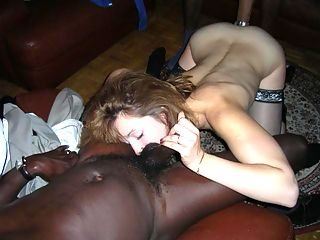 Horny mom filled with black cock.