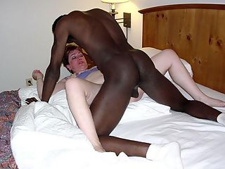 Sexy blonde playing long black .