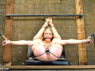 First Timer Bella Bends Lives Up To Her Name! : No long drawn out descriptions for you. Bella Bends experiences all of her firsts in this dynamic and challenging shoot. First time in bondage, first time at kink, first experiences with any type of pain play, on camera anal, suspension, double penetration... everything. She is overwhelmed with the newness. The excitement exuded in her body and orgasms simply tell the tale. We also feature a bonus 4th sybian position for the day because we were so enamored with this hot new slut, we wanted more. ENJOY HER!