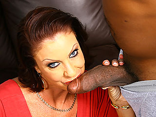 MILF makes son watch as she sucks and fucks black