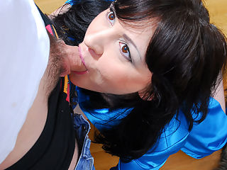 Jane isnt shy when she feels like having a fresh cock inside her old beaver. Watch her coming down on cute youngster Richmond with her craving for a fuck snatch and hungry mouth. This oversexed mature chick makes the unwilling guy exchange oral service and he almost rings her bell, still she wont let him go. The greedy milf wants to feel his hard-on thrusting into her bang box and his man goo streaming into her ready mouth.