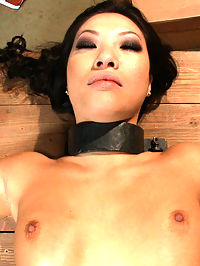 Americas Sweetheart Blackmailed and Defiled!!! Starring Asa Akira : Asa Akira plays Americas sweetheart, a famous actress with a good girl image that she will protect at all costs. Blackmailed with a sex tape, Asa is made to meet her blackmailer at a remote location, where she is bound in metal restraints. She is fucked while sleeping, then awakes to find herself surrounded by 5 cocks ready to fill her pussy with cum. This Asian hottie gets double penetrated, stuffed airtight, ass fucked in bondage, creampied, covered in cum, then left tied up and smiling in an abandoned building. Americas sweetheart aint so sweet anymore!!