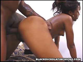 hot latin girls fucks a fat black cock