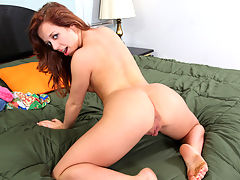 Playful amateur Aurora Monroe finger fucks her twat doggy-style
