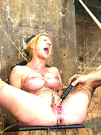 Gorgeous Squirting Orgasmic Rope Slut Gets Bound and Defiled : When I see Darling walk onto the set, I can feel my dick twitch. She is dressed like a proper citizen, all wrapped up in a pretty polka dot dress and sensible shoes. But I know what is underneath it all. She cant wait for me to get at those big round slutty tits of hers.I make her wait. As I tie her tits and crane her elbows behind her back, I hear her moan low. I smell her cunt getting wet. I run a knotted rope tight across her damp panties, push her to the ground and get my whip.The site is called HOGTIED, so I do a simple and strict tie that twists her back like a fucking pretzel and pushes her tightly tied tits out for me to torment. She sputters spittle around the gag as I casually apply zippers to her nicely presented tits. I laugh when she looks at me pleadingly, and reward her masochism with a hard, wet orgasm. I untie her and tell her to clean herself up - she smells like a used cunt.Pinning her ankles behind her head is a position I am sure this tramp is used to, so I show no mercy and really crank the ropes down. What I did not expect was the ferocity of uncontrollable squirting orgasms I would get out of her in this position. This little slut cums so much she leaves a puddle on my floor.The predicament is my favorite because I am a sadistic prick. Especially when my cock is as hard as it is right now. I tie her into something delightfully disturbing, weigh her fat fucking nipples and thick ripe cunt lips with viscous clamps and rocks, and sit back and rub my cock while she suffers. It is a good day.