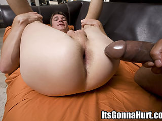 College boy cant wait to be fucked by a huge black cock