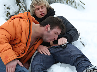 Todays update takes place in a very cold place. Marek and Martty met in a Ski Resort and kicked it off pretty well. They caught the lift and put on a show. Then they fucked in the cold