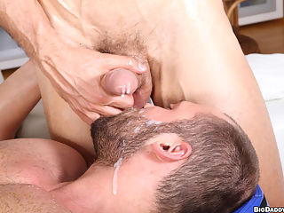 two sexy men rubbing each other down with oils and ending up so hot and horny they both melt in to each other like 2 gay crayon melting under the desert sun.