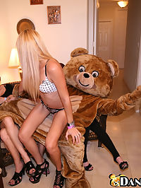 Cum covered milf on this dancing bear update!