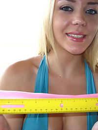 Hot blonde Annette has no gag reflex