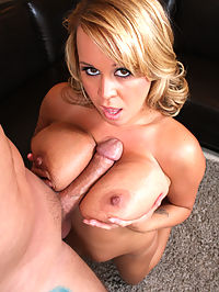 Whore with massive juggs needs more cock!