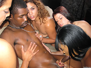 Black stripper whores-out on big black pimp dick