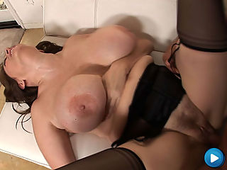 MILF with big freaky boobs gets her wet tight snatch ripped in half!