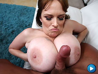 Busty MILF with freaks of boobs gets her pussy fucked!