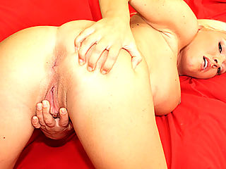 Wild blonde whore gets rip apart by freak cock