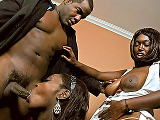 Big tit black whores get fucked hard by pimp cock